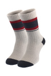 Серые теплые носки