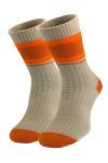 Бежевые носки в полоску