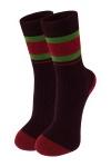 Жіночі бордові шкарпетки