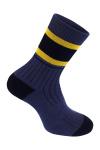 Синий носок с полоской photo 1