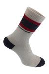 Серый носок с полоской photo 1