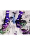 Носки в фиолетовую полоску photo 1