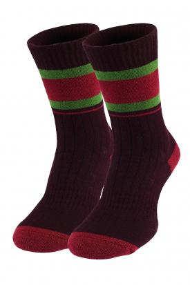 Теплі зимові  шкарпетки в полоску