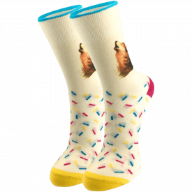 Women's socks fox white