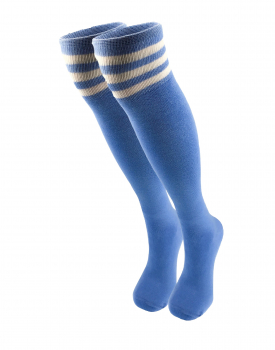 Women's half-hose blue