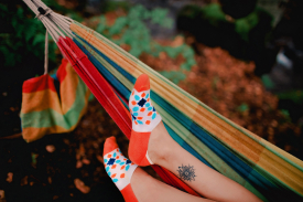 Женские носки оранжевые